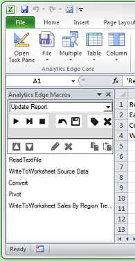 Analytics Edge task pane