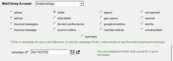 Connector for MailChimp – Analytics Edge